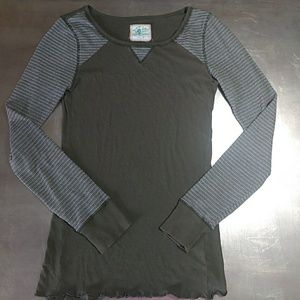 Free People Olive Thermal Henley